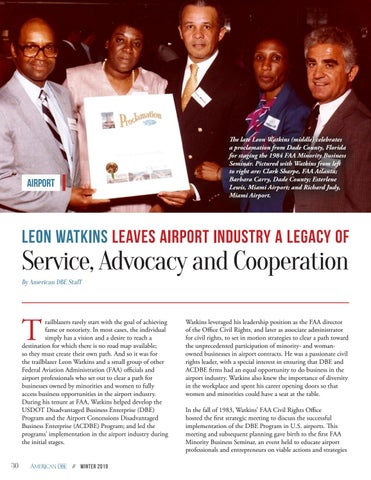 Page 30 of Leon Watkins Leaves Airport Industry a Legacy of Service, Advocacy and Cooperation