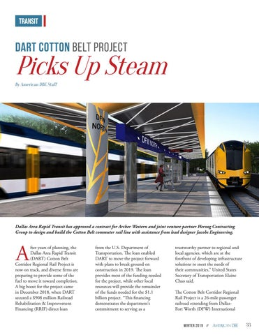 Page 33 of DART Cotton Belt Project Picks up Steam