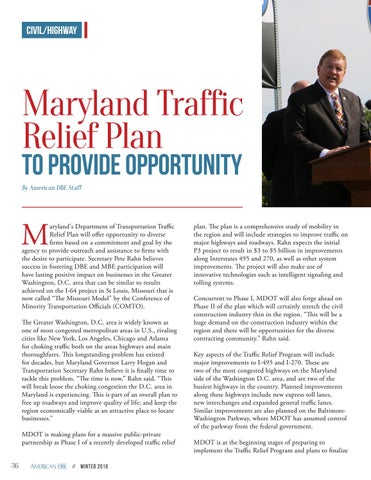 Page 36 of Maryland Traffic Relief Plan to Provide Opportunity