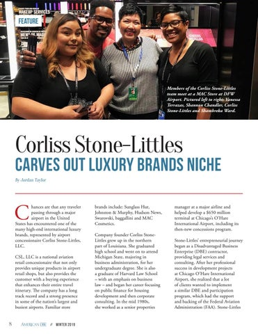 Page 8 of Corliss Stone-Littles Carves out Luxury Brands Niche