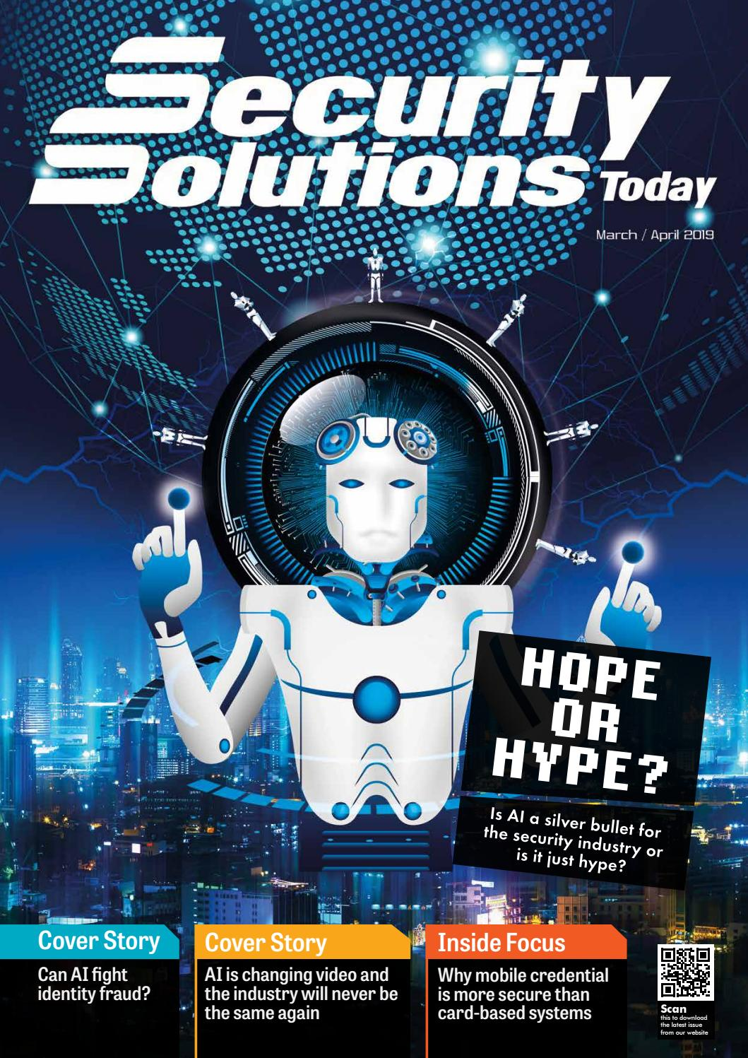 Security Solutions Today Mar Apr 2019 By Security Solutions