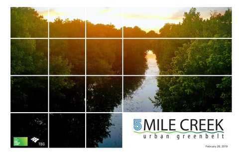 Five Mile Creek Urban Greenbelt Masterplan by Molly Plummer - issuu