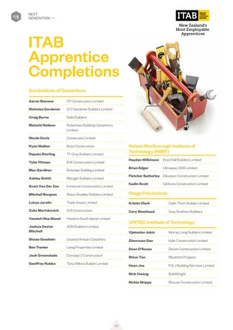 Page 40 of ITAB Apprentice Completions