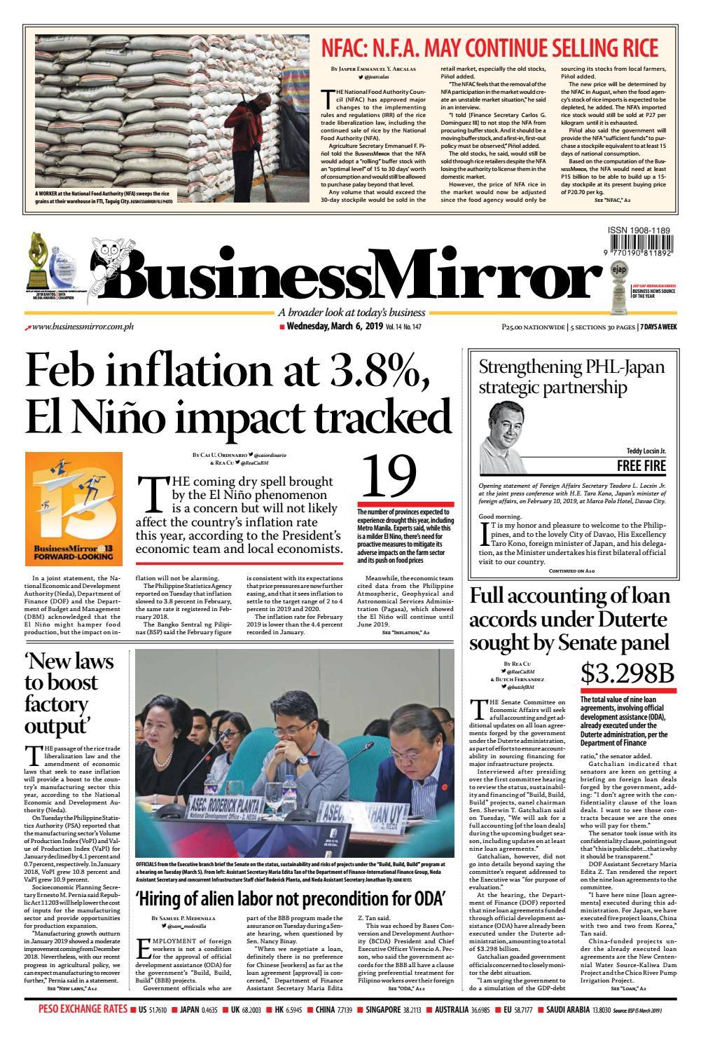 BusinessMirror March 06, 2019 by BusinessMirror - issuu