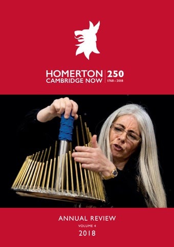 Homerton College Annual Review 2018 by Homerton College - issuu