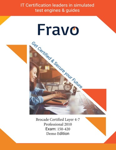 150-420 - Brocade Certified Layer 4-7 Professional 2010 by