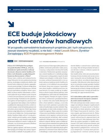 Page 18 of ECE buduje jakościowy portfel centrów handlowych