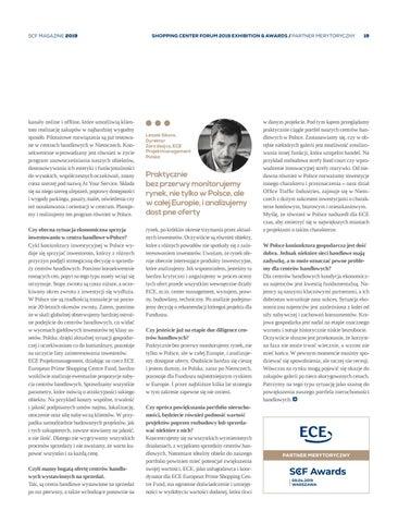 Page 19 of ECE buduje jakościowy portfel centrów handlowych