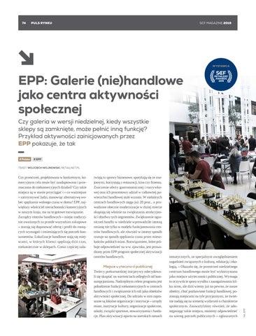 Page 74 of EPP: Galerie (nie)handlowe jako centra aktywności społecznej