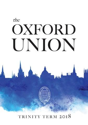 Oxford Union Trinity Term 2018 Termcard by The Oxford Union - issuu