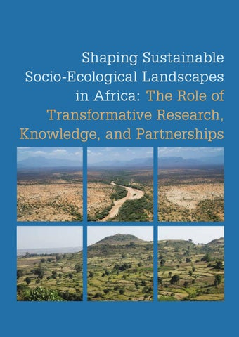 Shaping Sustainable Socio-Ecological Landscapes in Africa by Centre