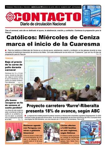 Diario Contacto 06 De Marzo De 2019 By Diario Contacto Beni