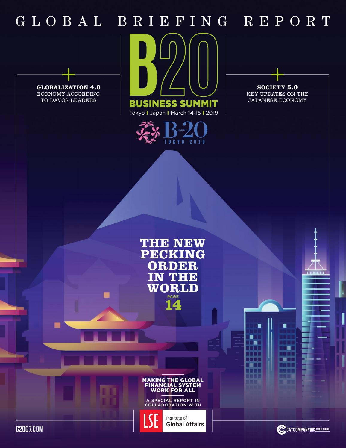 Ancor Coalition Urge Fda To Act On Banning Electronic Shock >> The B20 Japan Summit Global Briefing Report In Collaboration