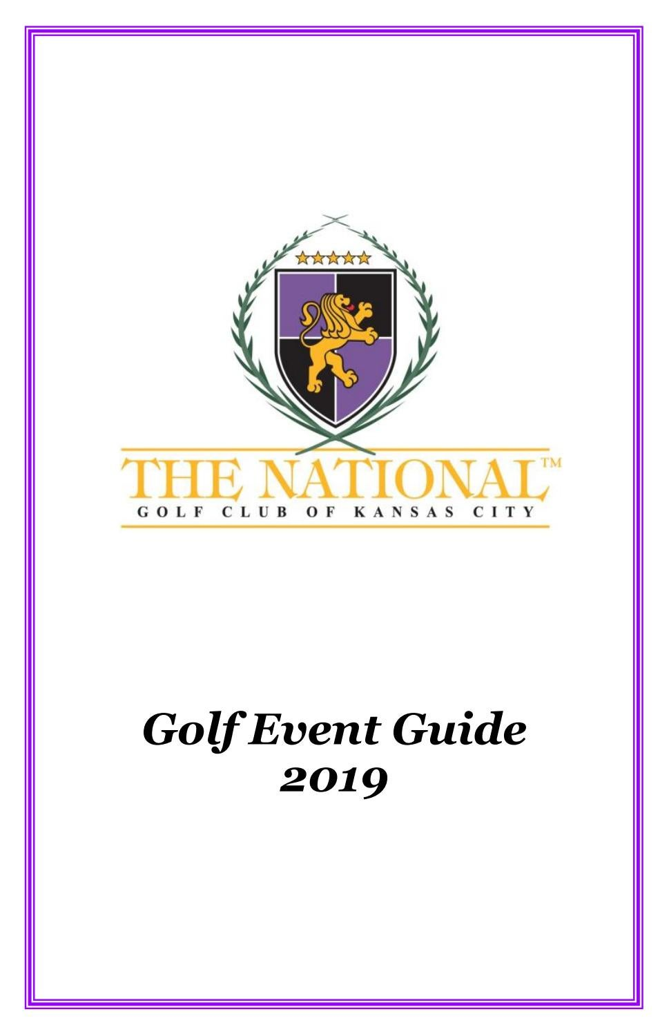 2019 Golf Event Guide for The National Golf Club by fivestar