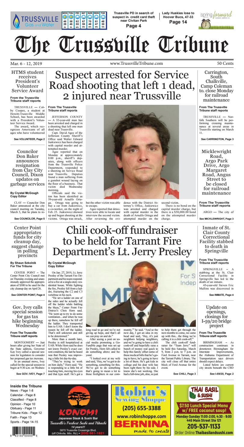 The Trussville Tribune - Mar  6 - 12, 2019 by Mike Kurov - issuu