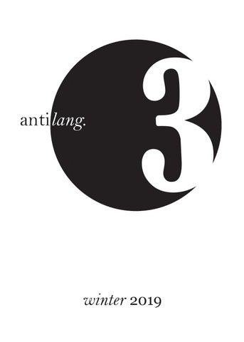 antilang  no  3 by antilangmag - issuu