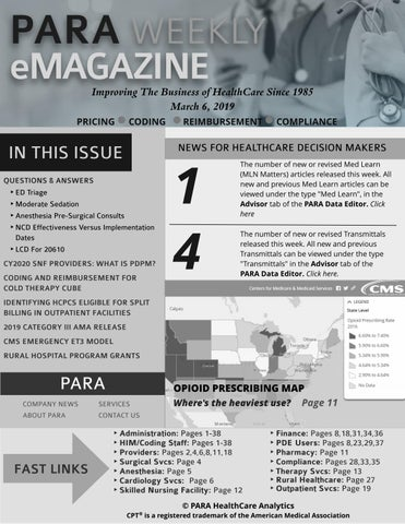 PARA Weekly eMagazine Grayscale Version March 6, 2019 by