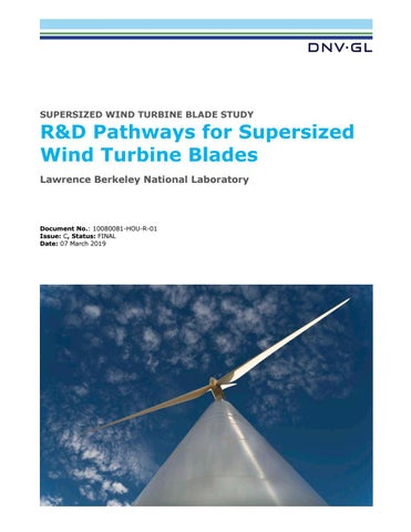 Supersized wind turbine blade study by DNV GL - issuu