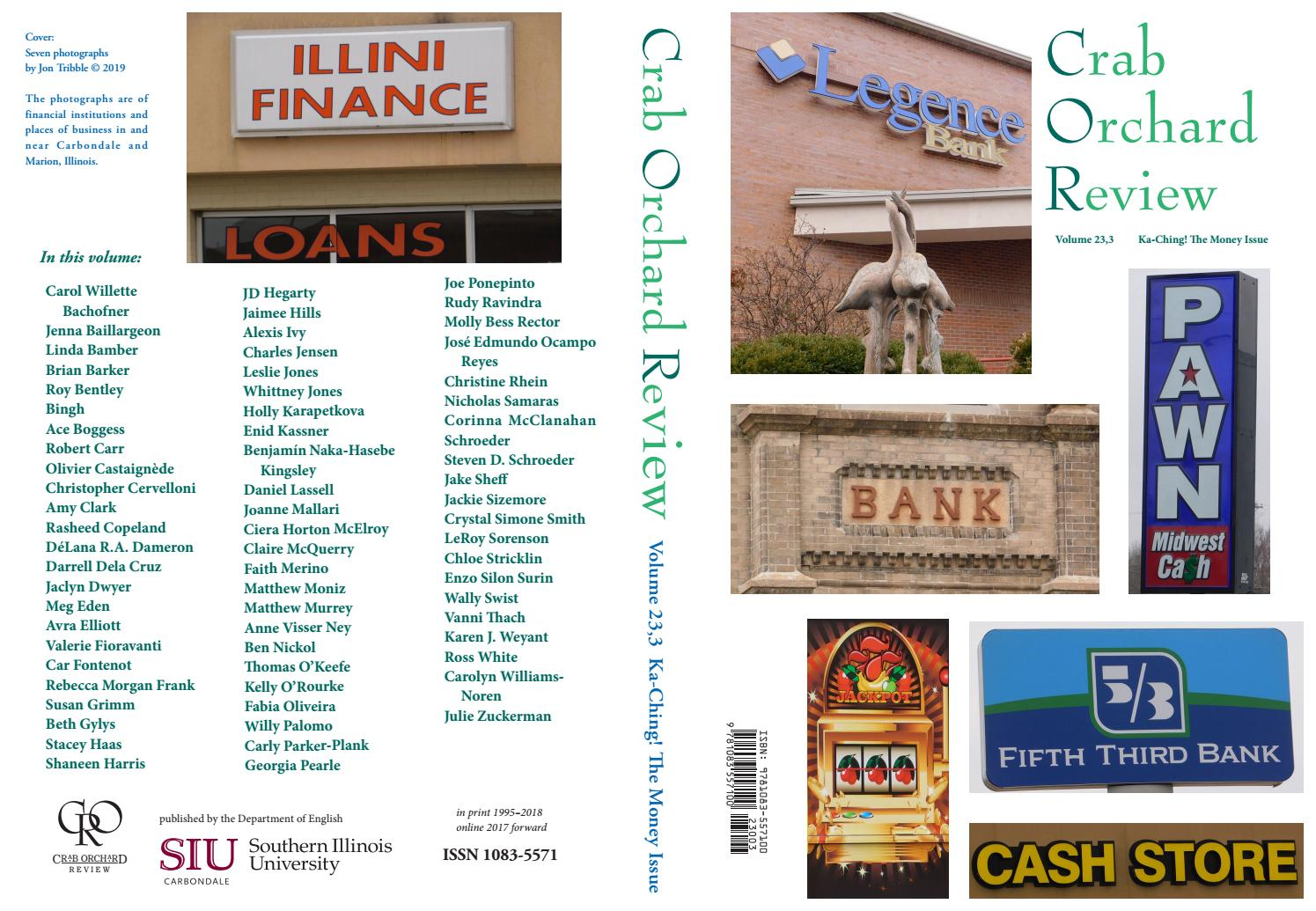 87bd974f Crab Orchard Review Vol 23 No 3 March 2019 by Crab Orchard Review - issuu