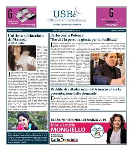 Ufficio Stampa Basilicata Settimanale Del 6 Marzo By Ufficio Stampa Basilicata Issuu