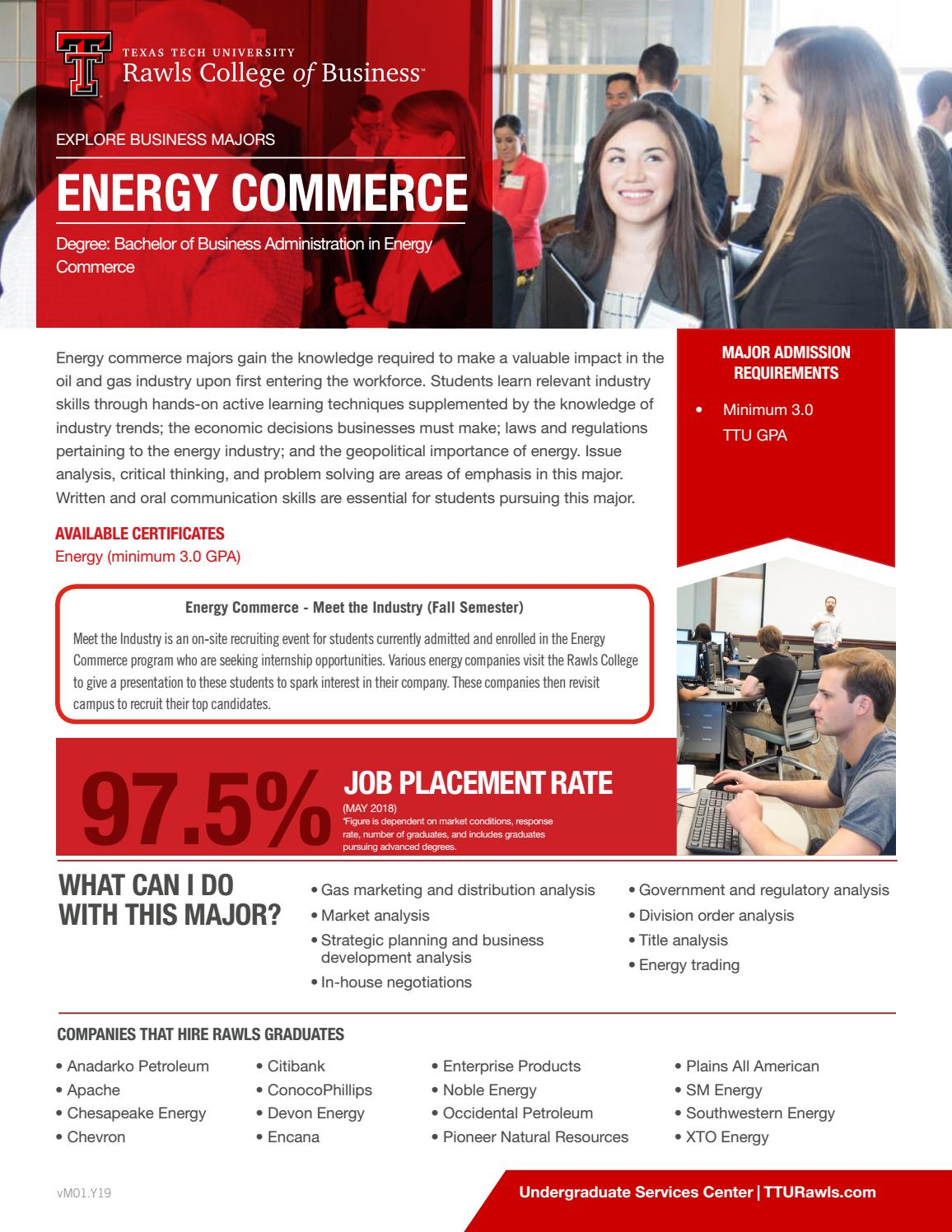 Energy Commerce One Pager by Rawls College of Business - issuu