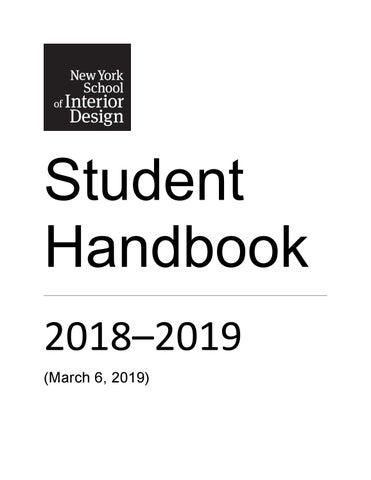 NYSID Student Handbook 2018–2019
