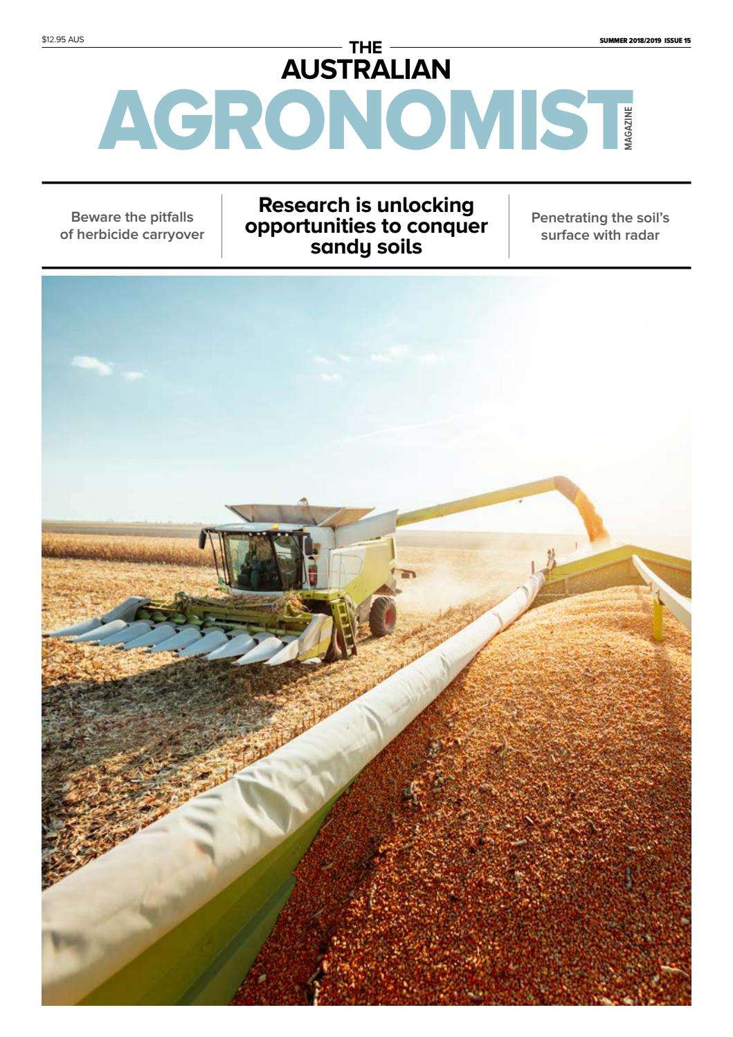 The Australian Agronomist Summer 2019 by The Australian