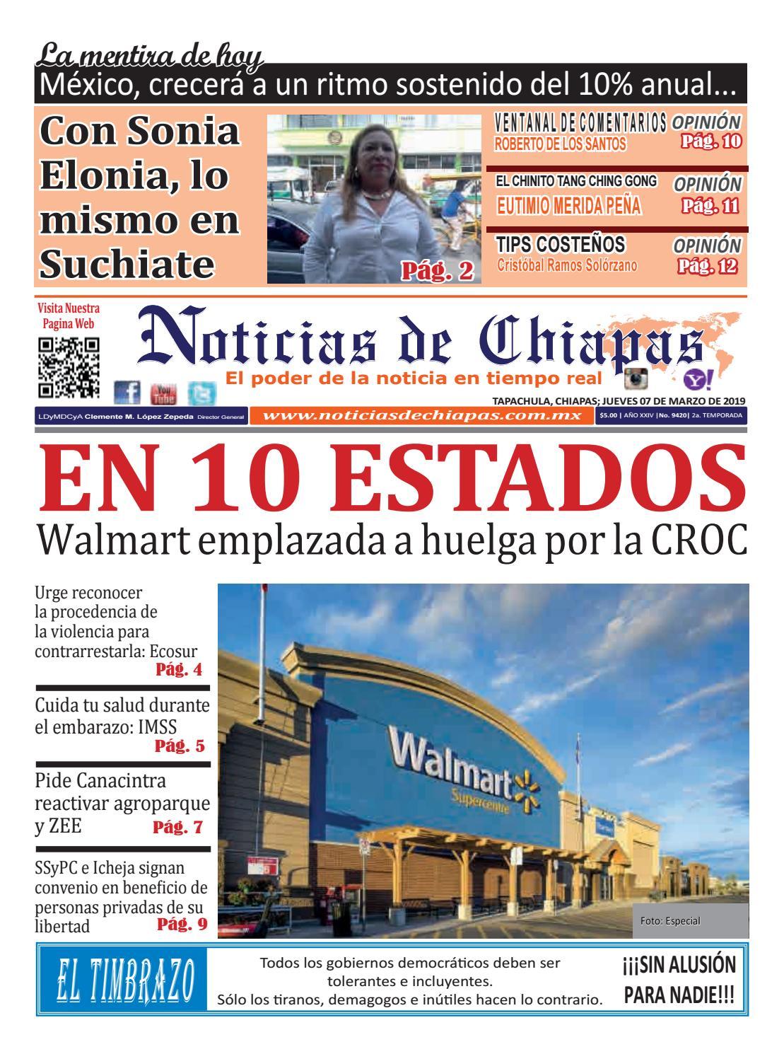5c8d6fa181 PERIÓDICO NOTICIAS DE CHIAPAS, EDICIÓN VIRTUAL JUEVES 07 DE MARZO DE 2019  by Noticias de Chiapas - issuu