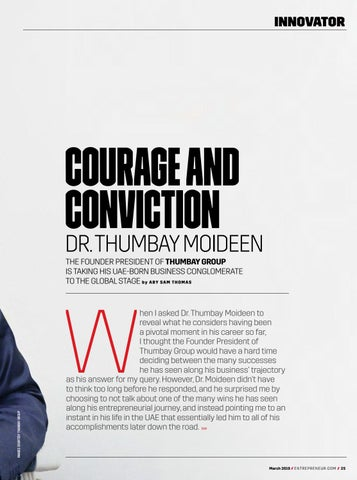 Page 25 of Dr. Thumbay Moideen, Founder President, Thumbay Group