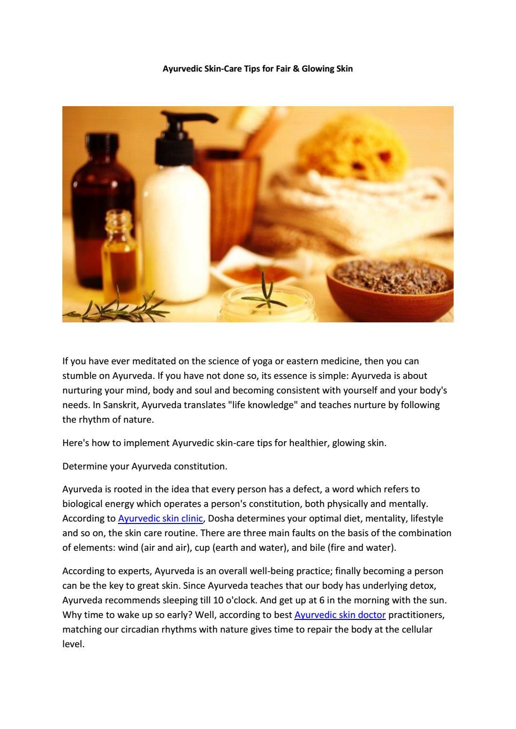 Ayurvedic Skin-Care Tips for Fair & Glowing Skin by R-Oxygen Skin