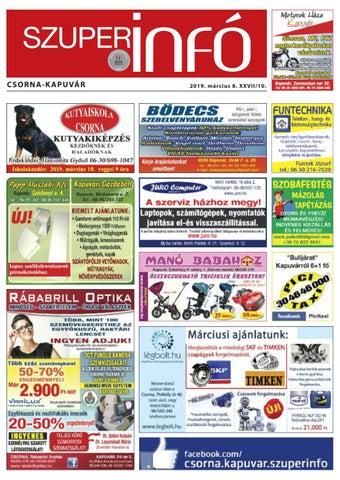 0564028c7272 Csorna-Kapuvár Szuperinfó 10. hét by Info Rbakoz - issuu
