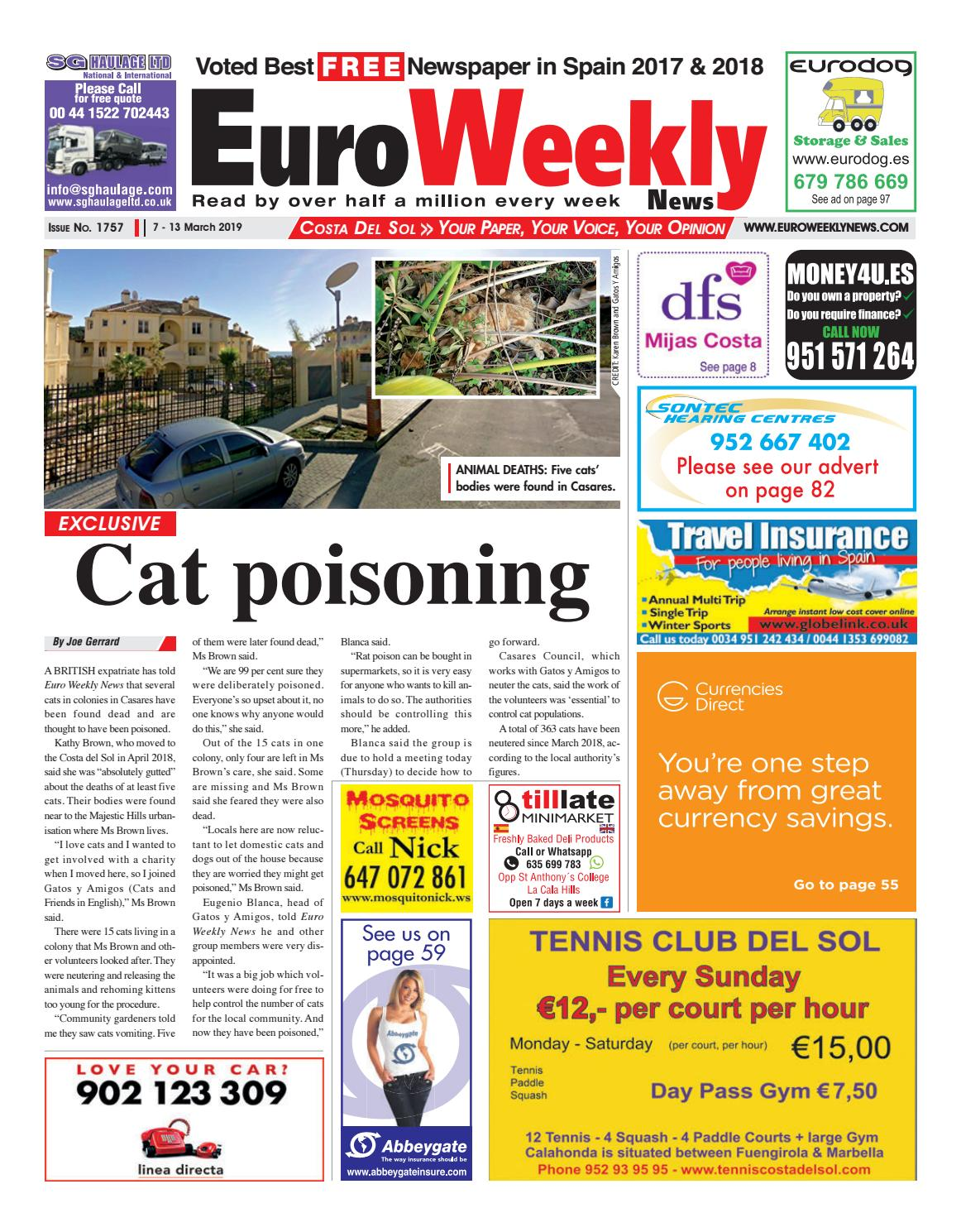 58412ee95 Euro Weekly News - Costa del Sol 7 - 13 March 2019 Issue 1757 by Euro  Weekly News Media S.A. - issuu