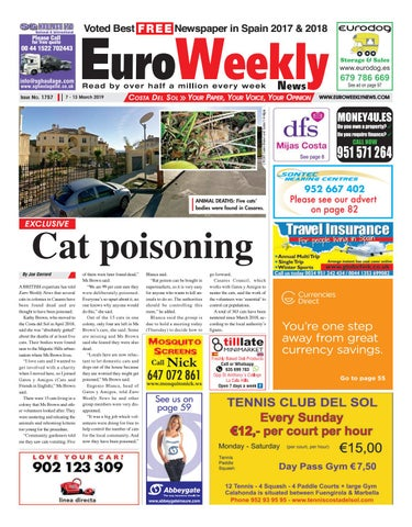 43a89c7b84c Euro Weekly News - Costa del Sol 7 - 13 March 2019 Issue 1757 by ...