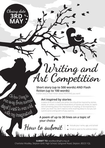 Writing and Art Competition 2019 by Skipton Girls' High