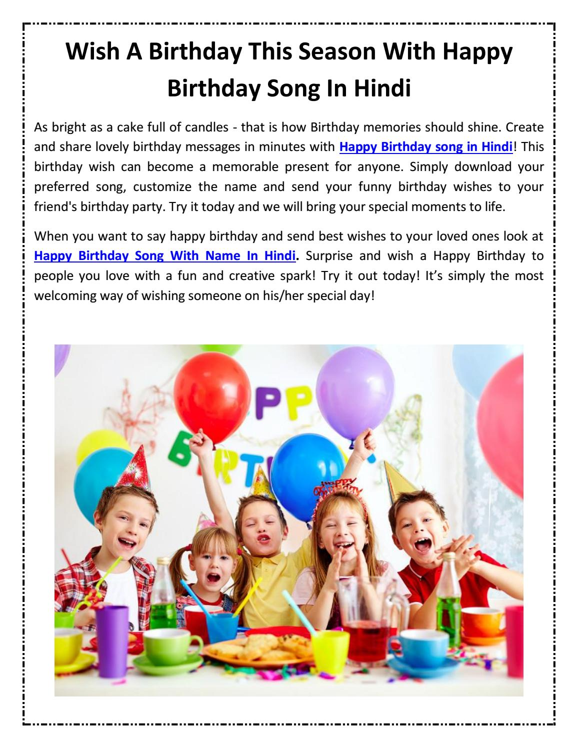 Wish A Birthday This Season With Happy Birthday Song In