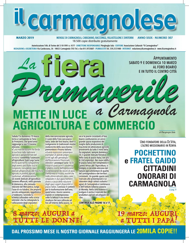 a64688b7926f Il Carmagnolese Marzo 2019 by Redazione Il Carmagnolese - issuu