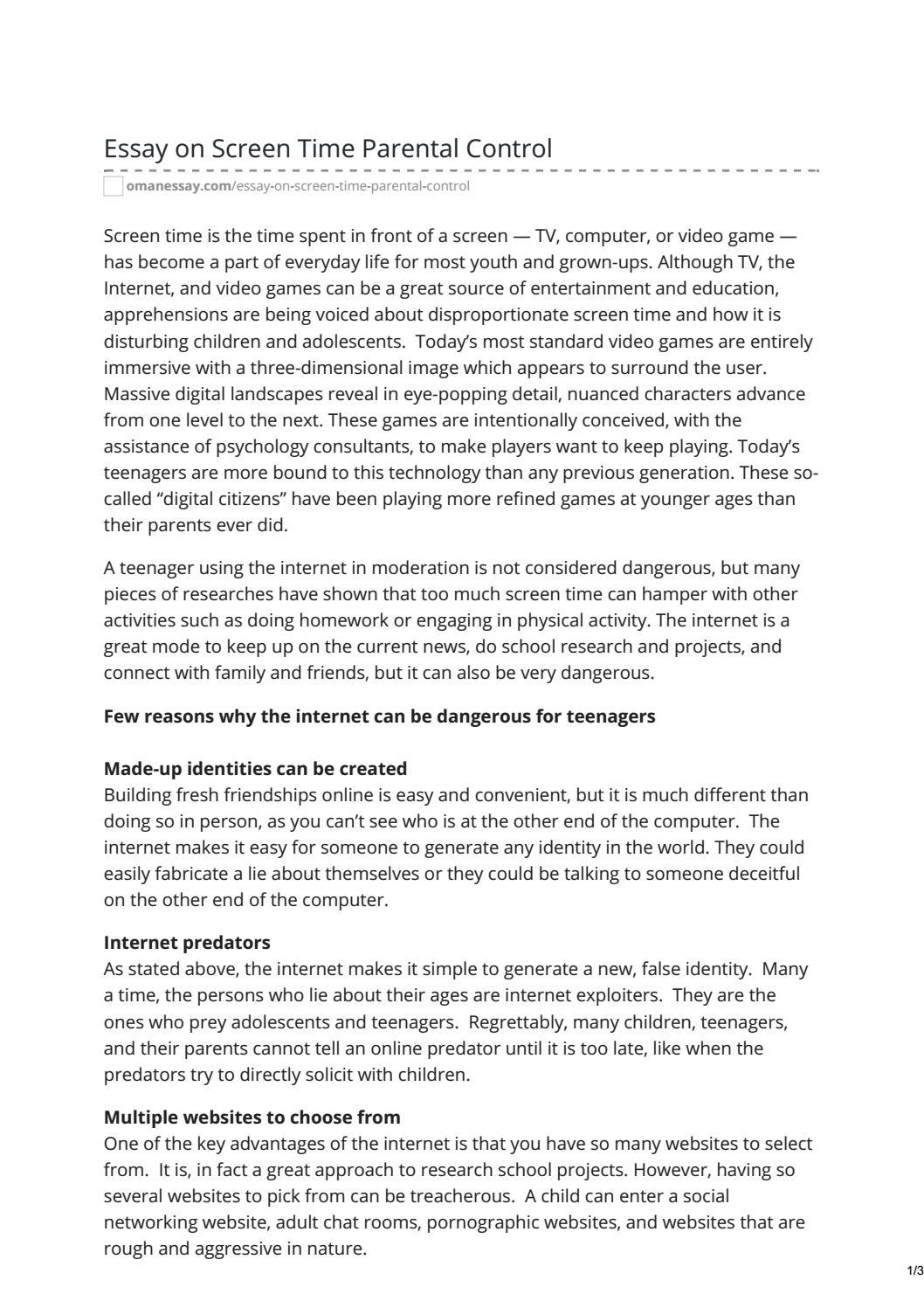 identity change essay
