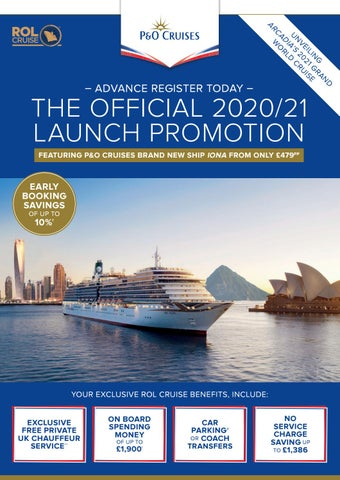 Iona Days Schedule Of Events 2020.The Official P O Cruises 2020 21 Launch By Rol Cruise Issuu