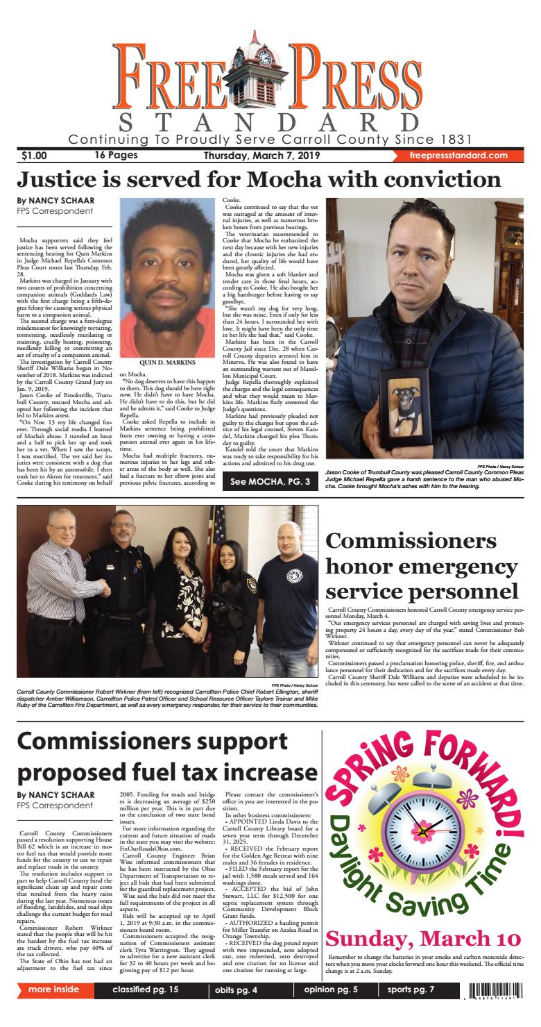 The Free Press Standard March 7, 2019 by Schloss Media - issuu