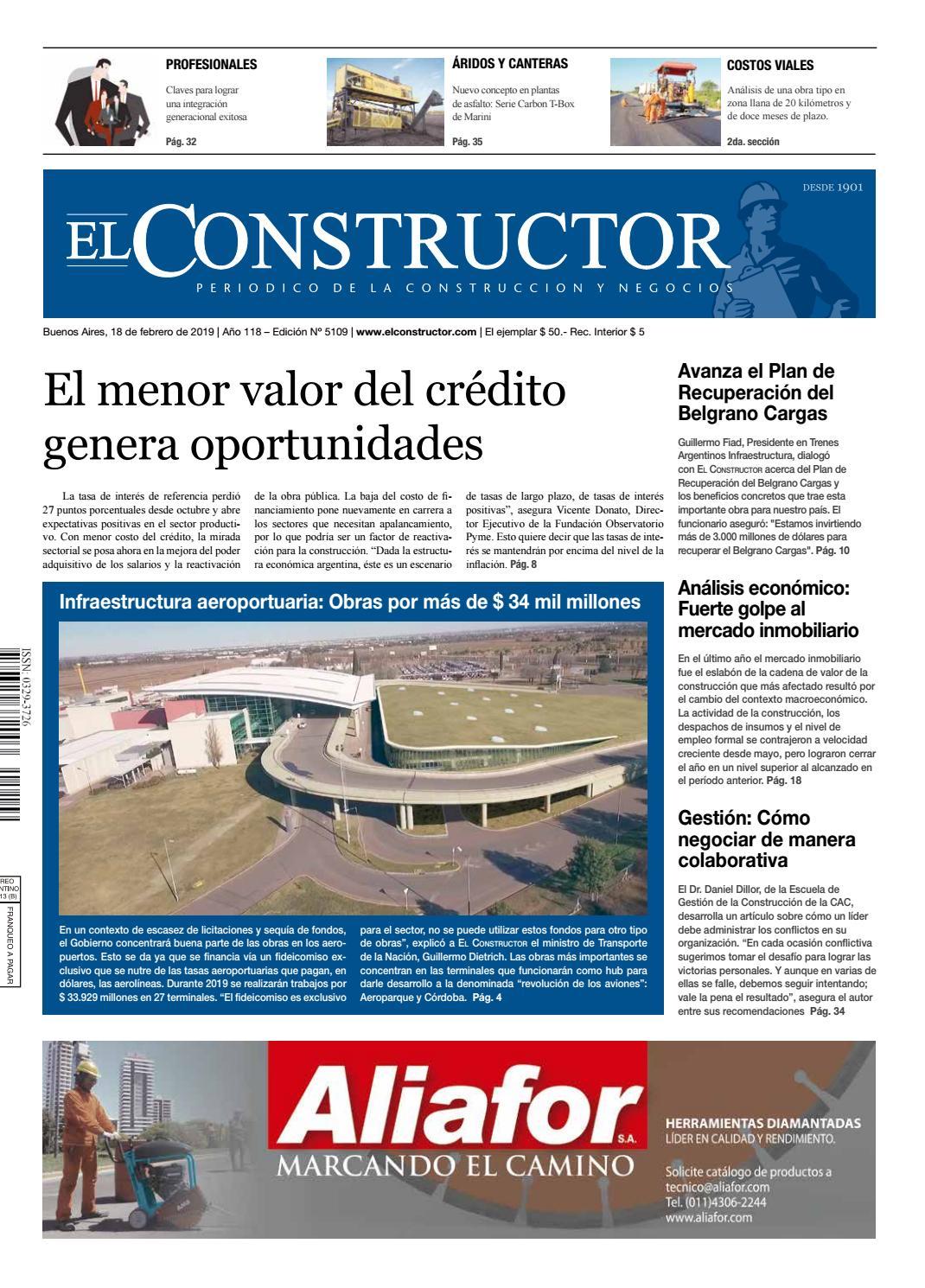 d48855f43 El Constructor 18/02/2019 - N° 5109 Año 118 by ELCO Editores - issuu