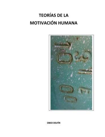 Teorías De La Motivación Humana By Obed Delfin Issuu