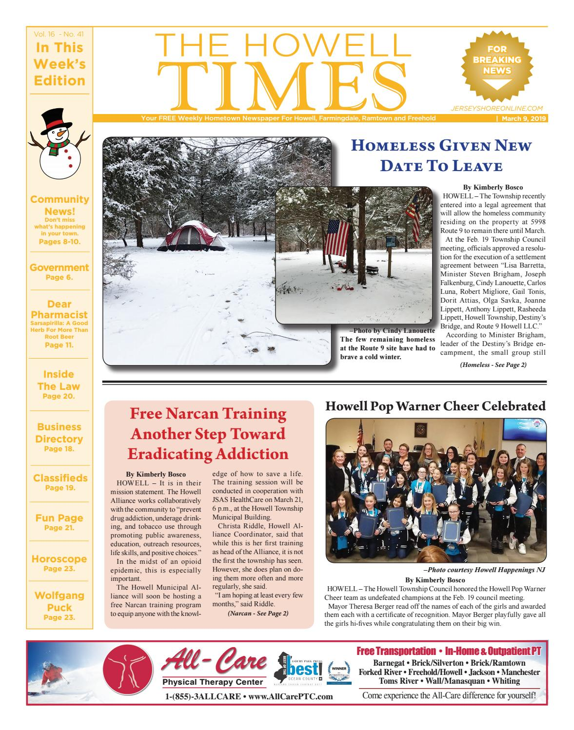 427cb42b614f 2019-03-09 - The Howell Times by Micromedia Publications/Jersey Shore  Online - issuu