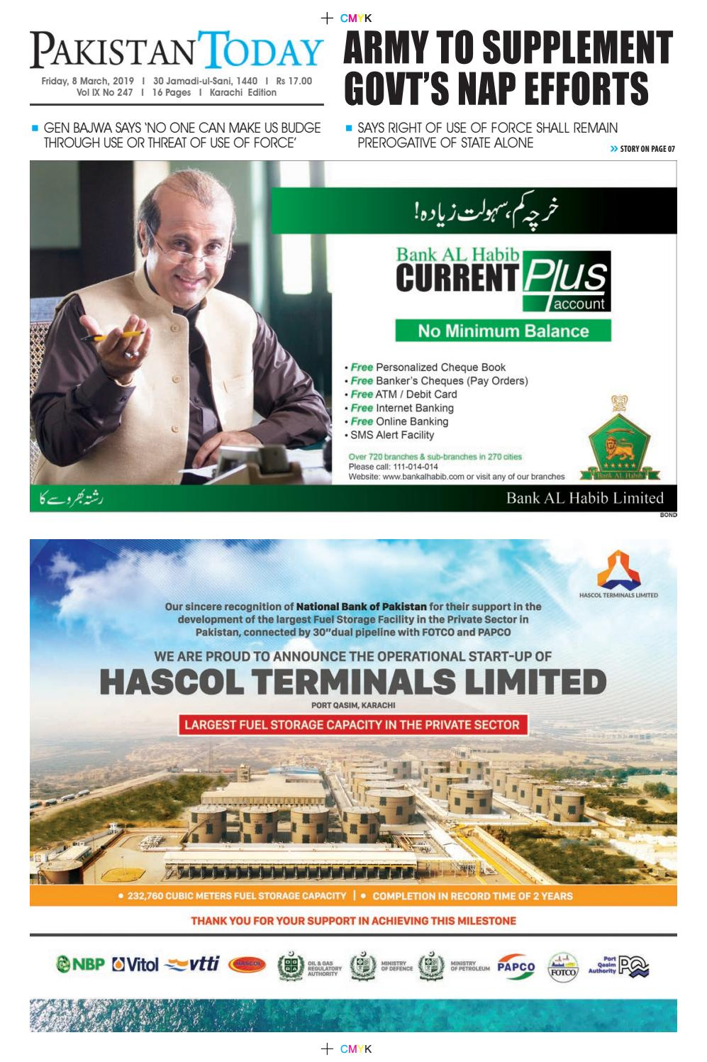 E-Paper PDF 8 March (KHI) by Pakistan Today - issuu