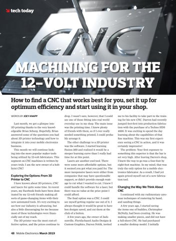 Page 48 of Tech Today: CNC Machining for the 12-Volt Industry