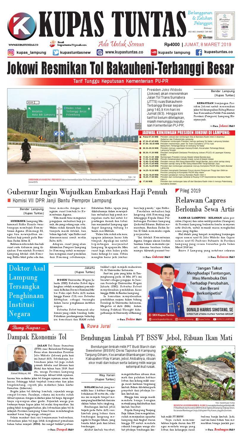 Surat Kabar Harian Kupas Tuntas Edisi Jumat 08 Maret 2019 By Kupas Tuntas Issuu