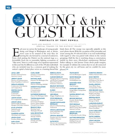 Page 20 of the 2019 Young & the Guest List
