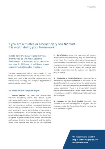Page 13 of Are you ready for changes to NZ's Trust Laws?