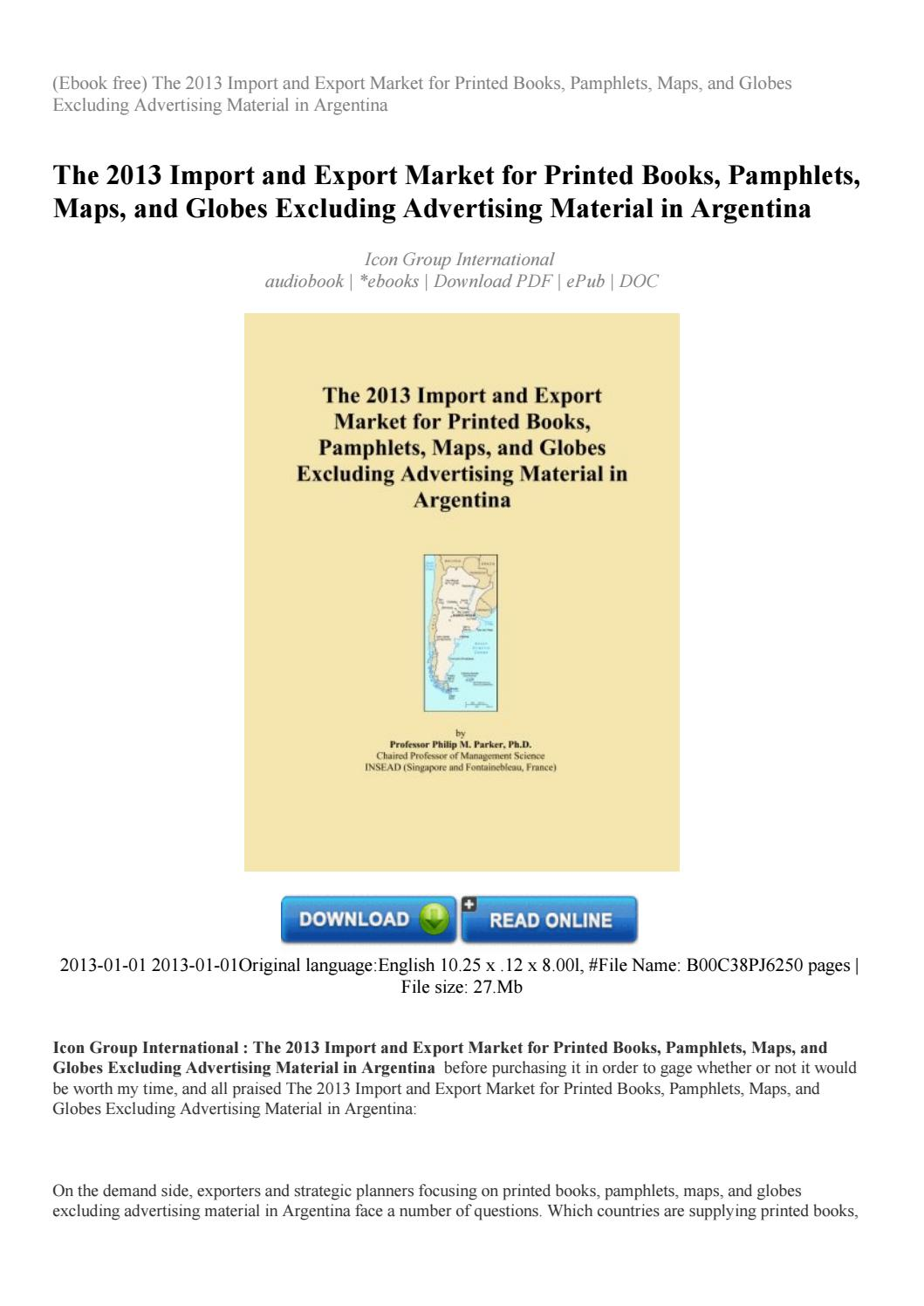 Marketing ebook international and free export download management