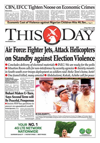 eea231cc79a FRIDAY 8TH MARCH 2019 by THISDAY Newspapers Ltd - issuu