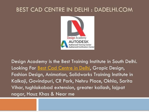 Best Cad Centre In Delhi Ncr By Design Academy Issuu
